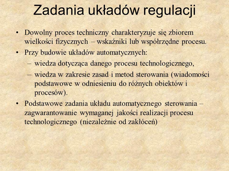 Zadania układów regulacji