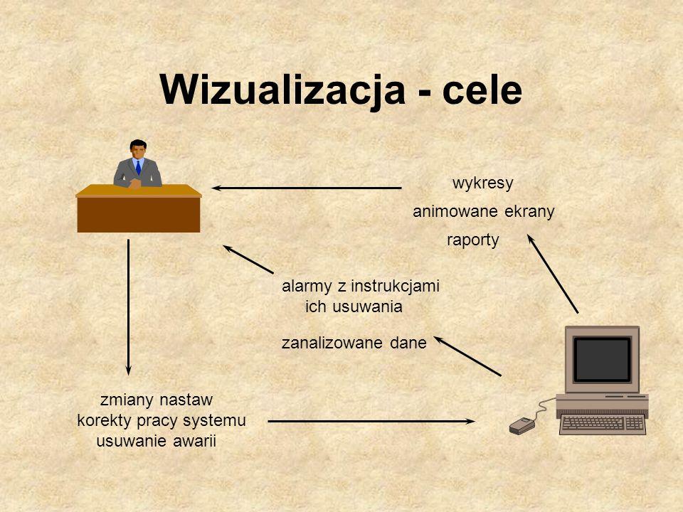 Wizualizacja - cele wykresy animowane ekrany raporty