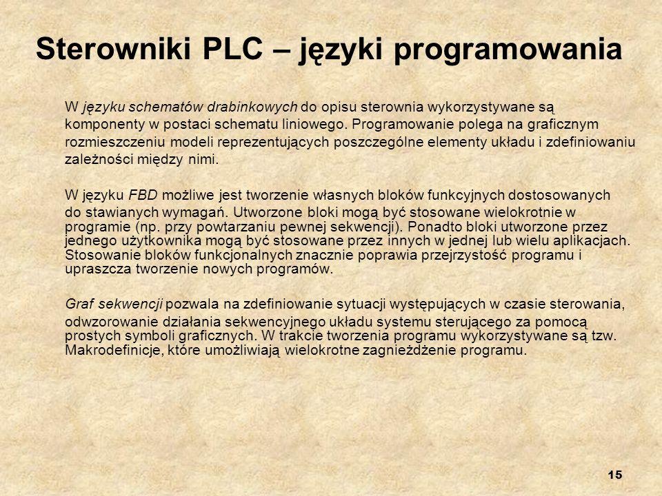 Sterowniki PLC – języki programowania