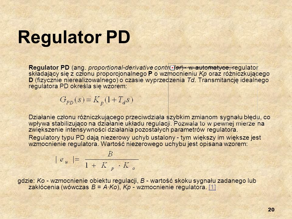 Regulator PD