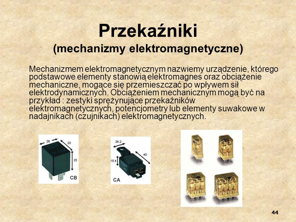 Przekaźniki (mechanizmy elektromagnetyczne)
