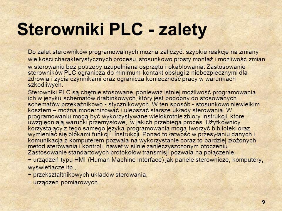 Sterowniki PLC - zalety