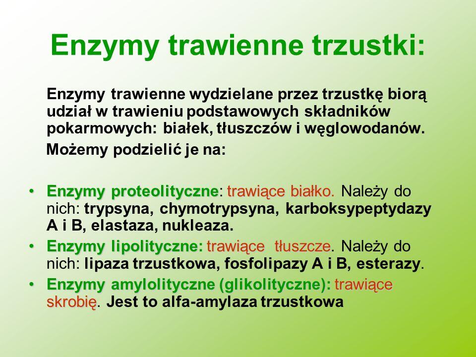 Enzymy trawienne trzustki: