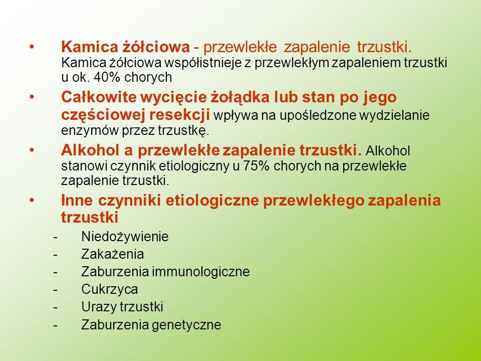 Inne czynniki etiologiczne przewlekłego zapalenia trzustki