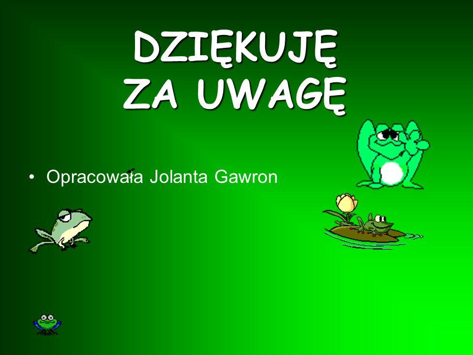 DZIĘKUJĘ ZA UWAGĘ Opracowała Jolanta Gawron