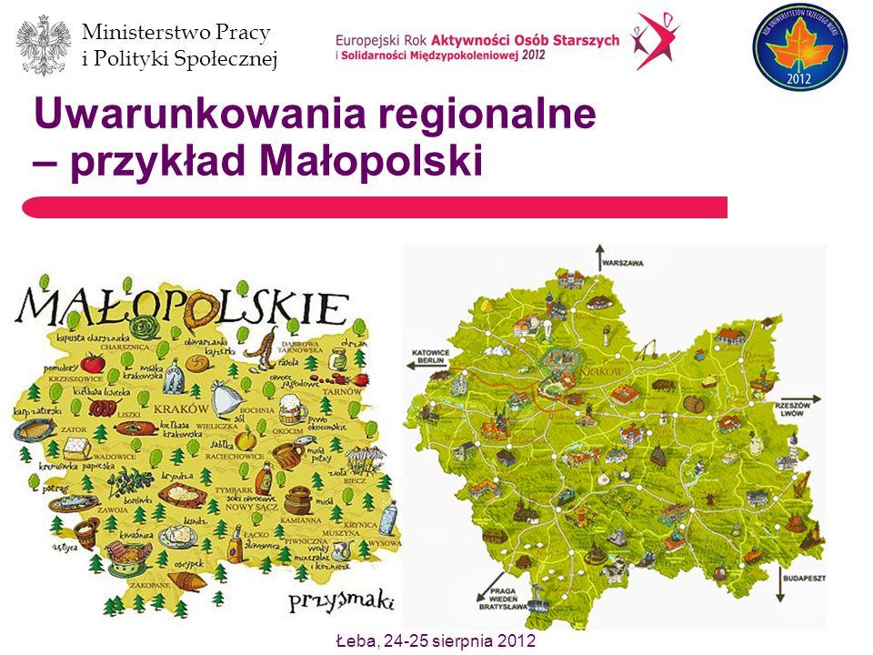 Uwarunkowania regionalne – przykład Małopolski