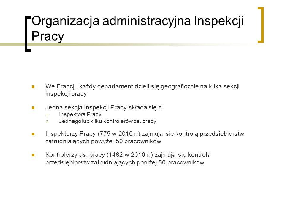 Organizacja administracyjna Inspekcji Pracy