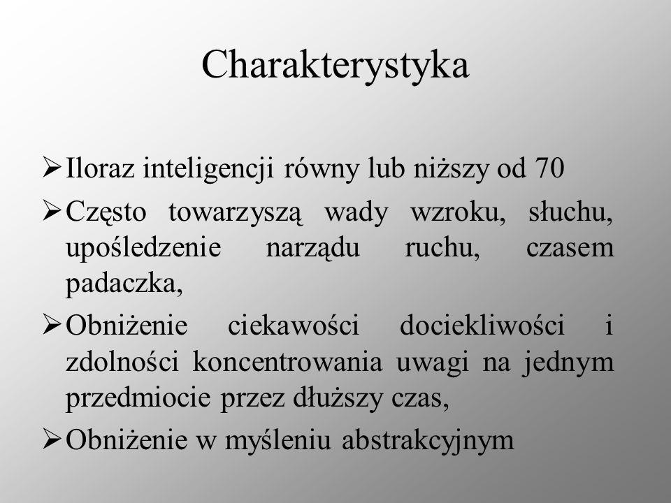 Charakterystyka Iloraz inteligencji równy lub niższy od 70
