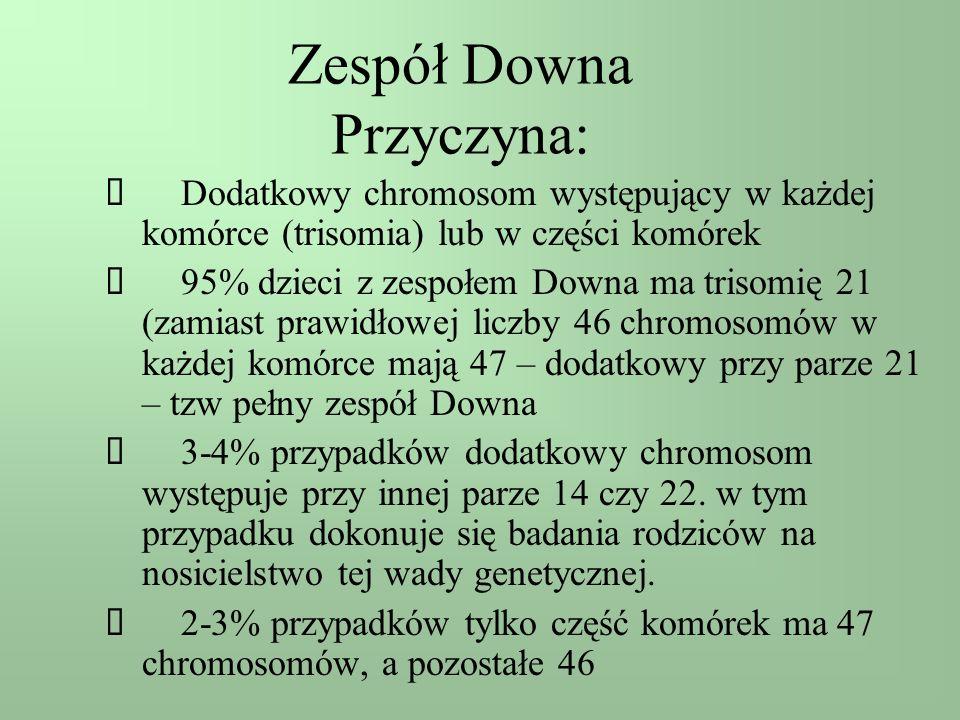 Zespół Downa Przyczyna: