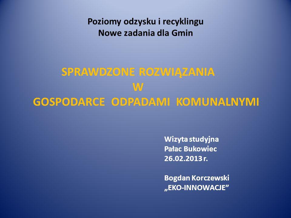Poziomy odzysku i recyklingu Nowe zadania dla Gmin