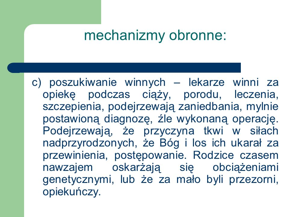 mechanizmy obronne:
