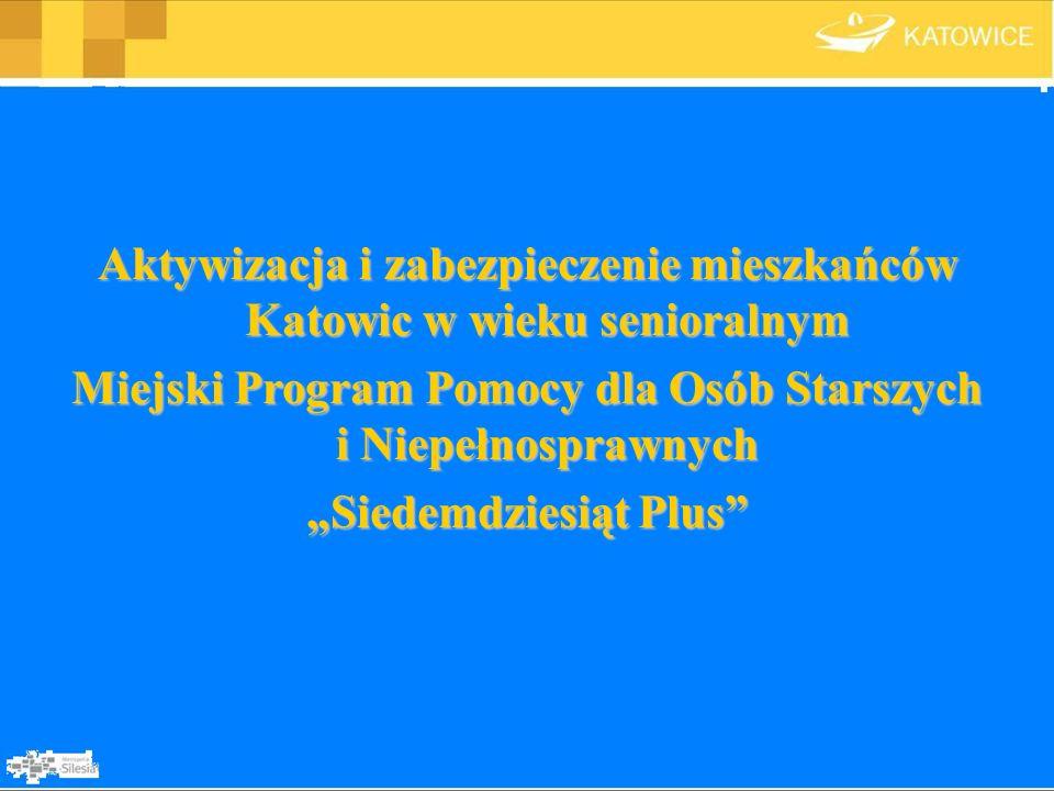 Aktywizacja i zabezpieczenie mieszkańców Katowic w wieku senioralnym