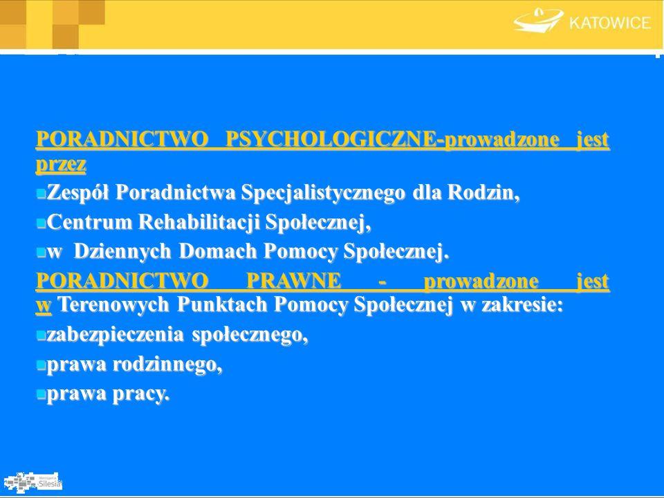PORADNICTWO PSYCHOLOGICZNE-prowadzone jest przez
