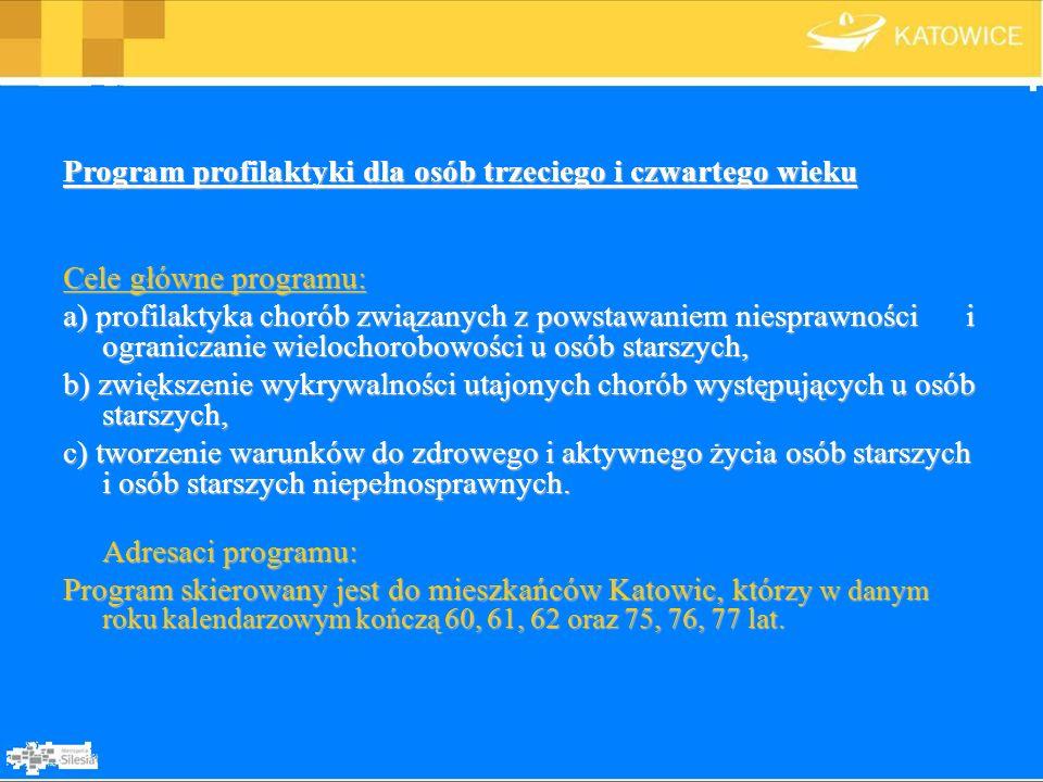 Program profilaktyki dla osób trzeciego i czwartego wieku