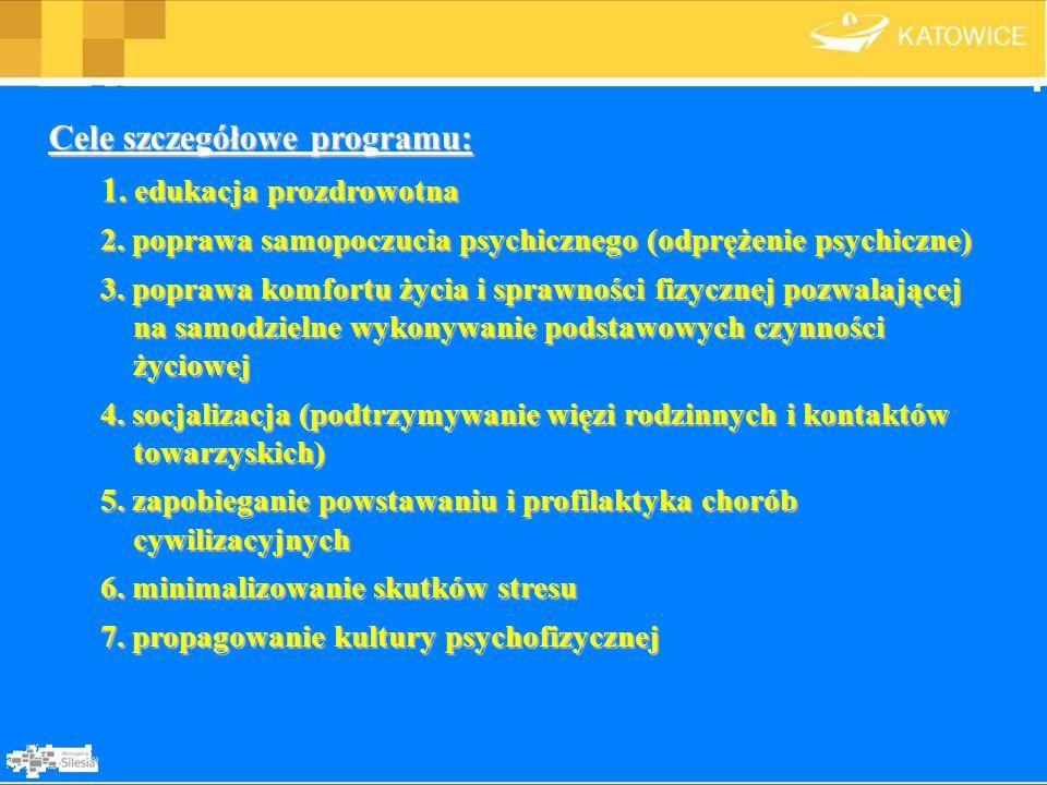 Cele szczegółowe programu: 1. edukacja prozdrowotna