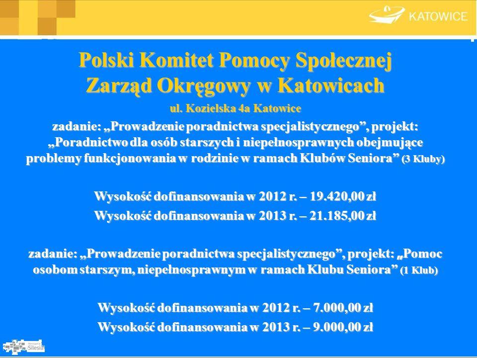 Polski Komitet Pomocy Społecznej Zarząd Okręgowy w Katowicach