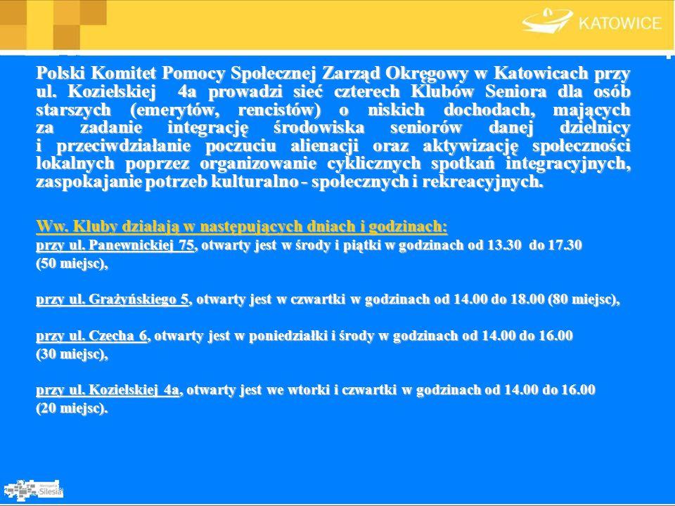 Polski Komitet Pomocy Społecznej Zarząd Okręgowy w Katowicach przy ul