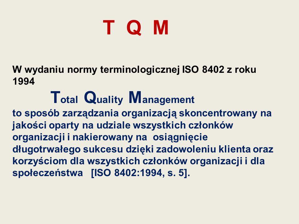 T Q M W wydaniu normy terminologicznej ISO 8402 z roku 1994