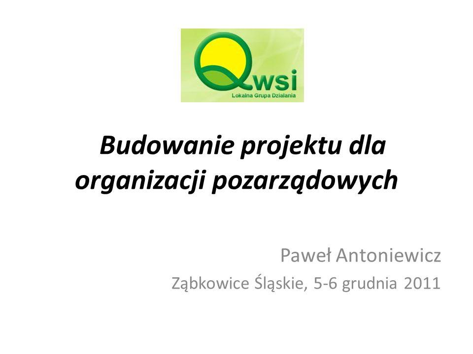 Budowanie projektu dla organizacji pozarządowych