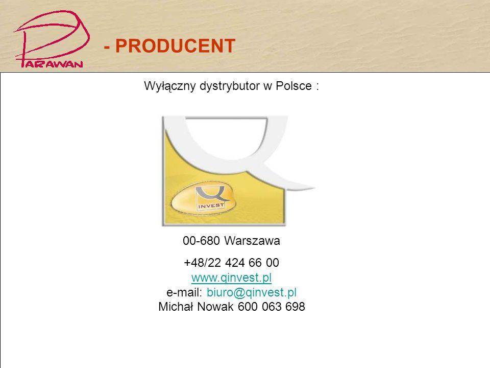 Wyłączny dystrybutor w Polsce :