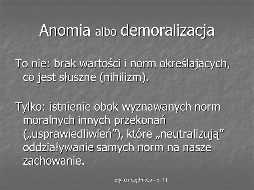 Anomia albo demoralizacja