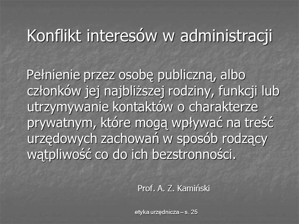 Konflikt interesów w administracji