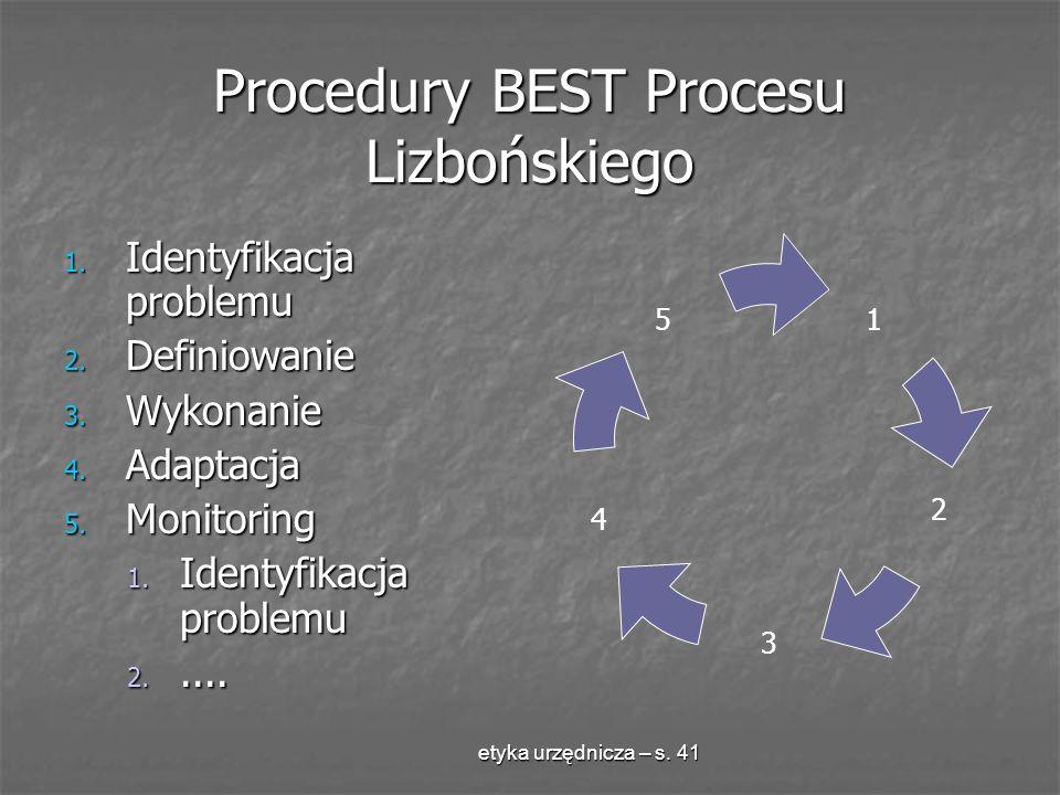 Procedury BEST Procesu Lizbońskiego