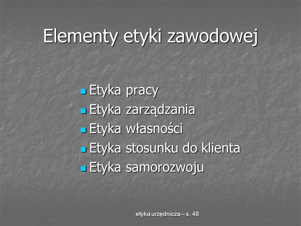 Elementy etyki zawodowej