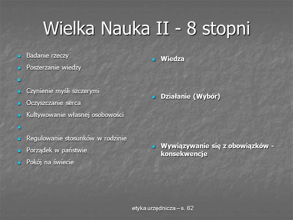 Wielka Nauka II - 8 stopni