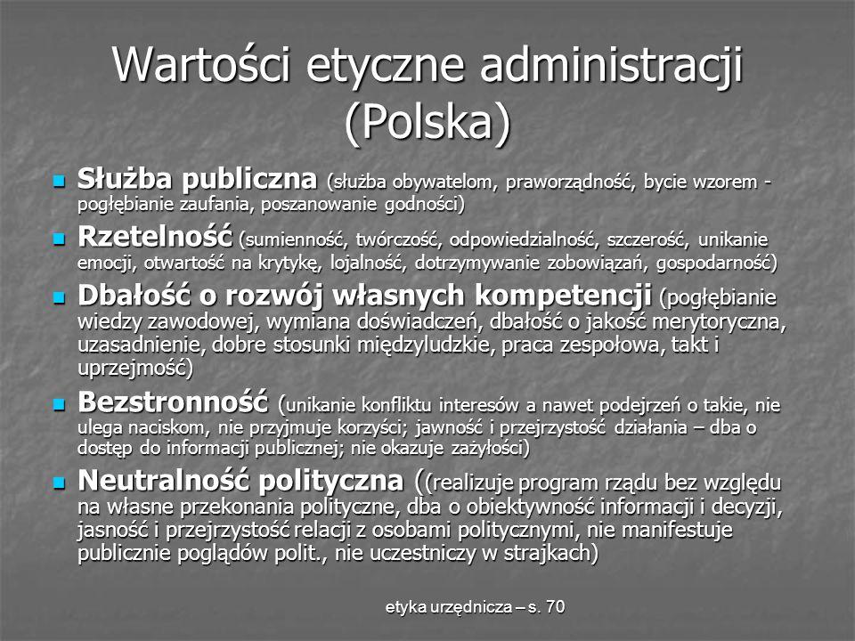Wartości etyczne administracji (Polska)