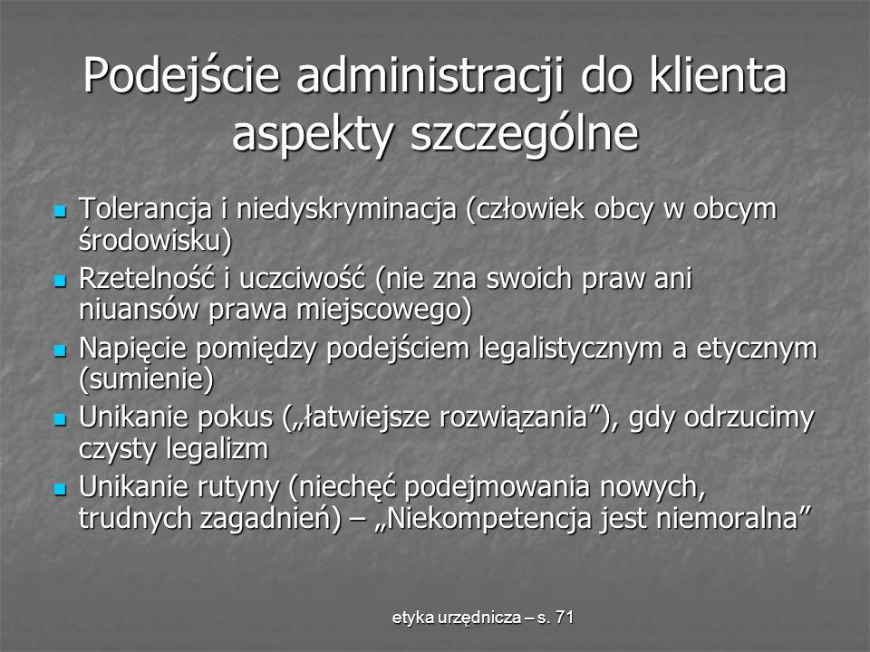 Podejście administracji do klienta aspekty szczególne