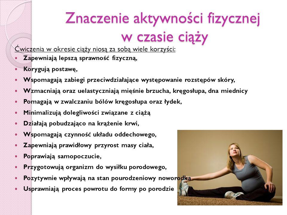 Znaczenie aktywności fizycznej w czasie ciąży
