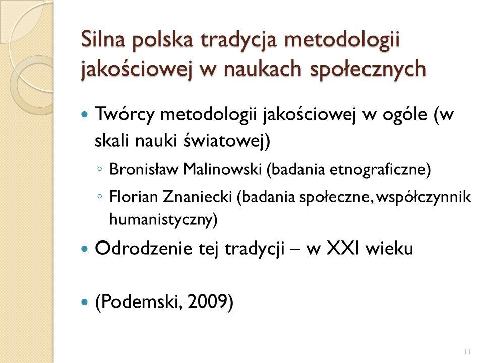 Silna polska tradycja metodologii jakościowej w naukach społecznych