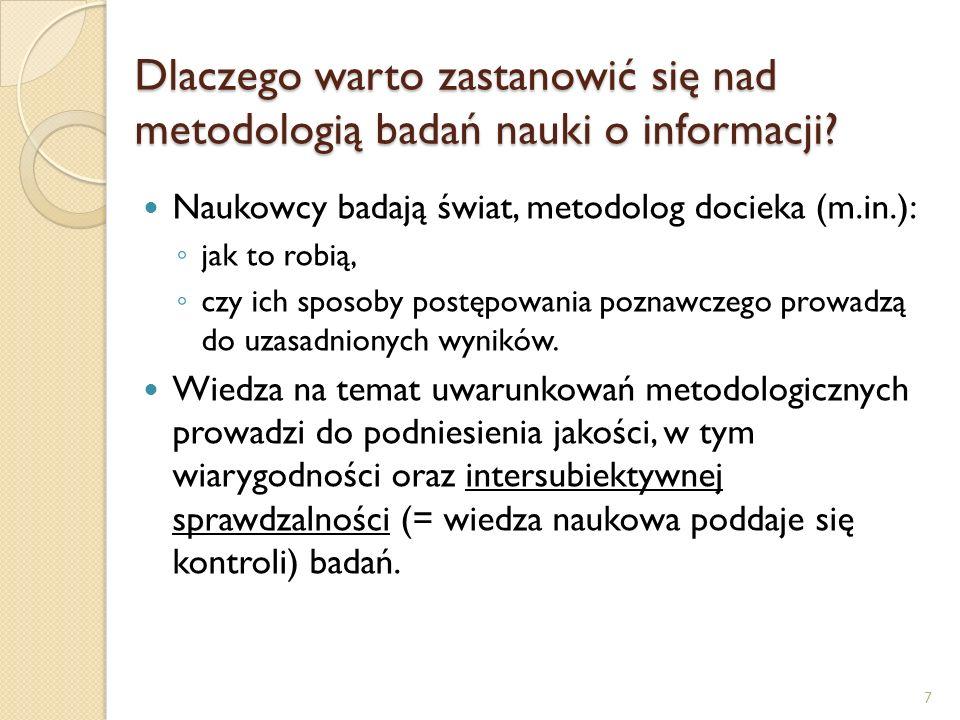 Dlaczego warto zastanowić się nad metodologią badań nauki o informacji