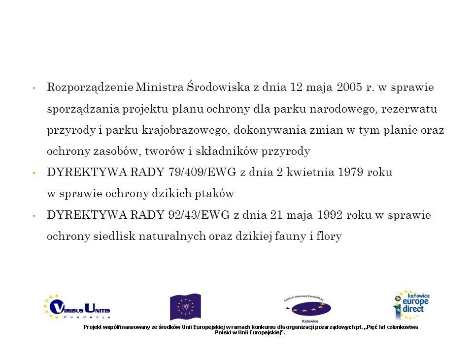 Rozporządzenie Ministra Środowiska z dnia 12 maja 2005 r