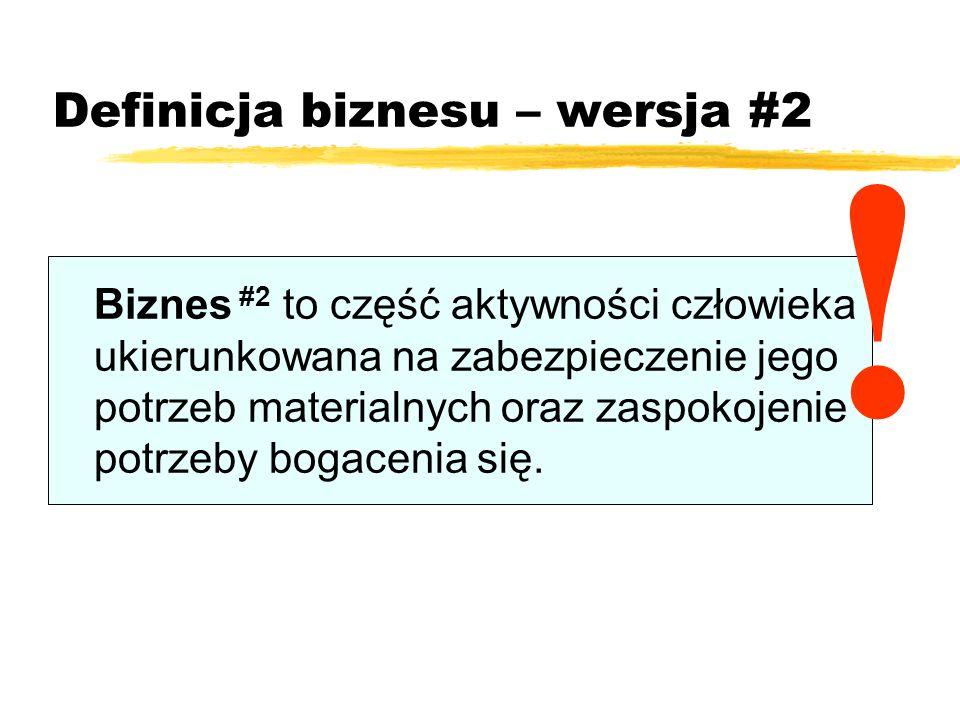 Definicja biznesu – wersja #2