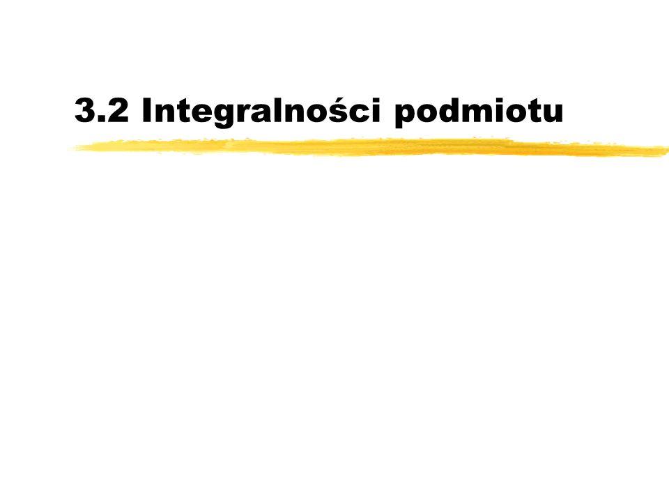 3.2 Integralności podmiotu