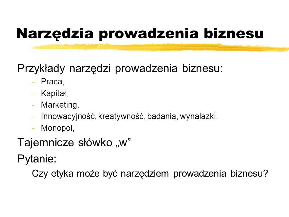 Narzędzia prowadzenia biznesu