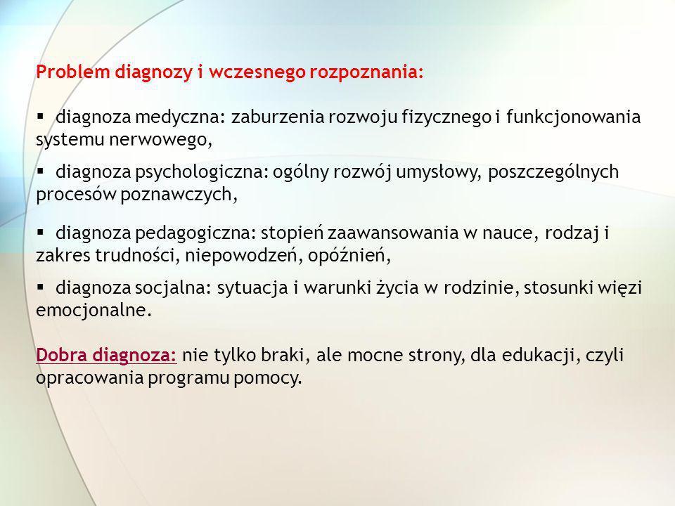 Problem diagnozy i wczesnego rozpoznania: