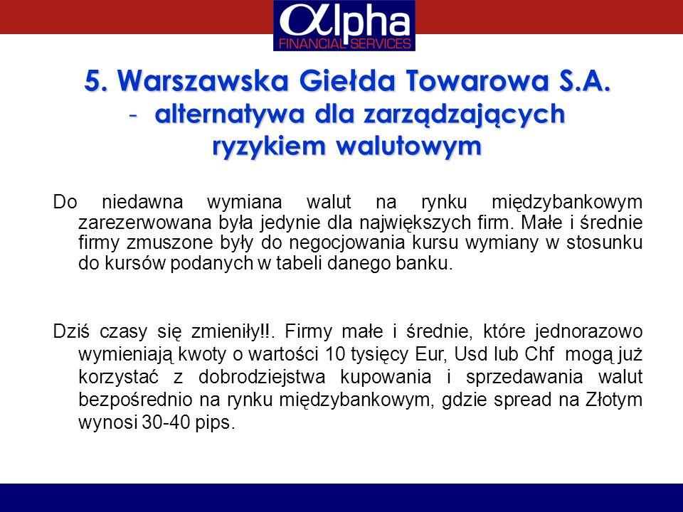5. Warszawska Giełda Towarowa S.A. alternatywa dla zarządzających