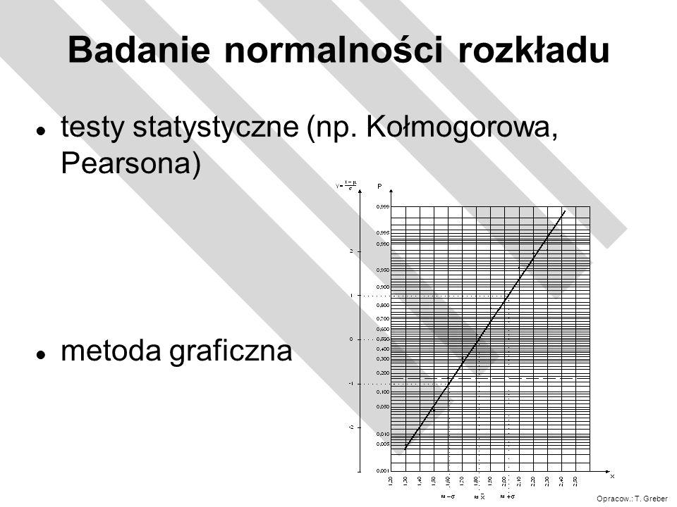 Badanie normalności rozkładu