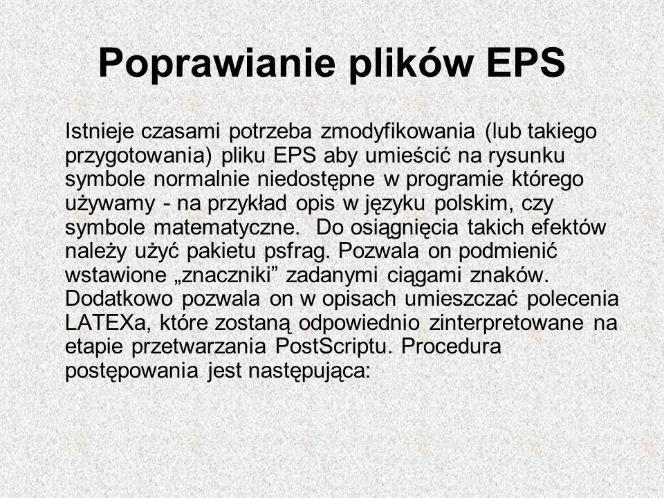 Poprawianie plików EPS