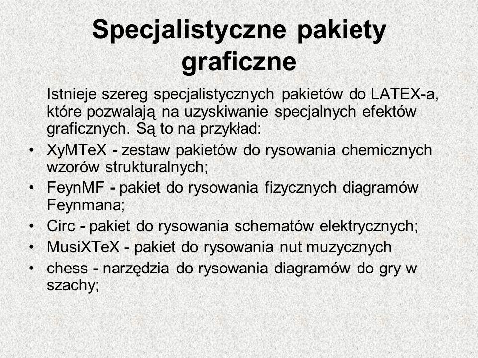 Specjalistyczne pakiety graficzne