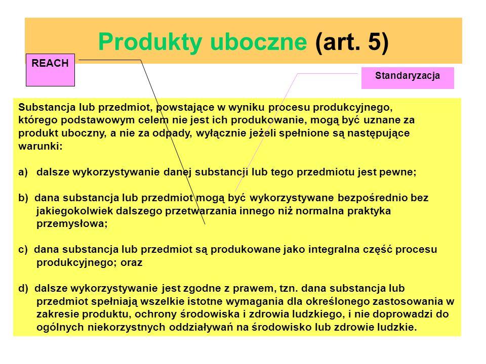 Produkty uboczne (art. 5)