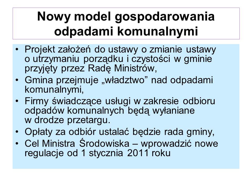 Nowy model gospodarowania odpadami komunalnymi