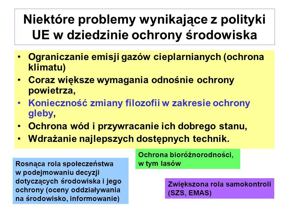 Niektóre problemy wynikające z polityki UE w dziedzinie ochrony środowiska