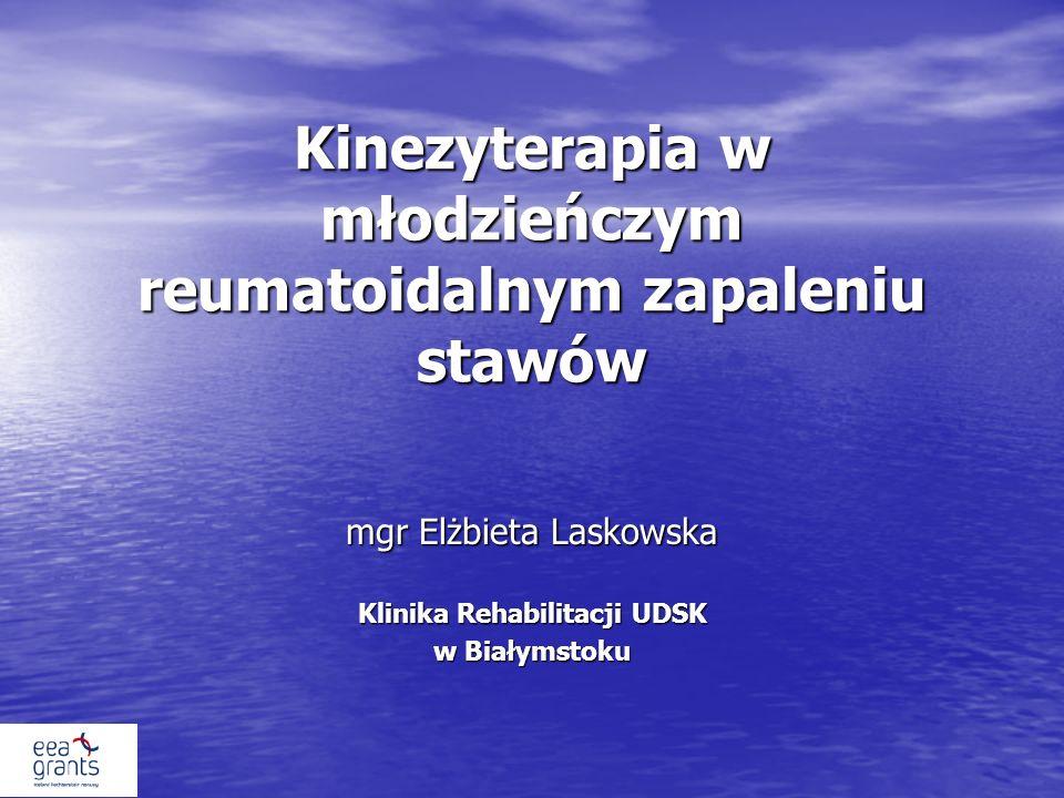Kinezyterapia w młodzieńczym reumatoidalnym zapaleniu stawów