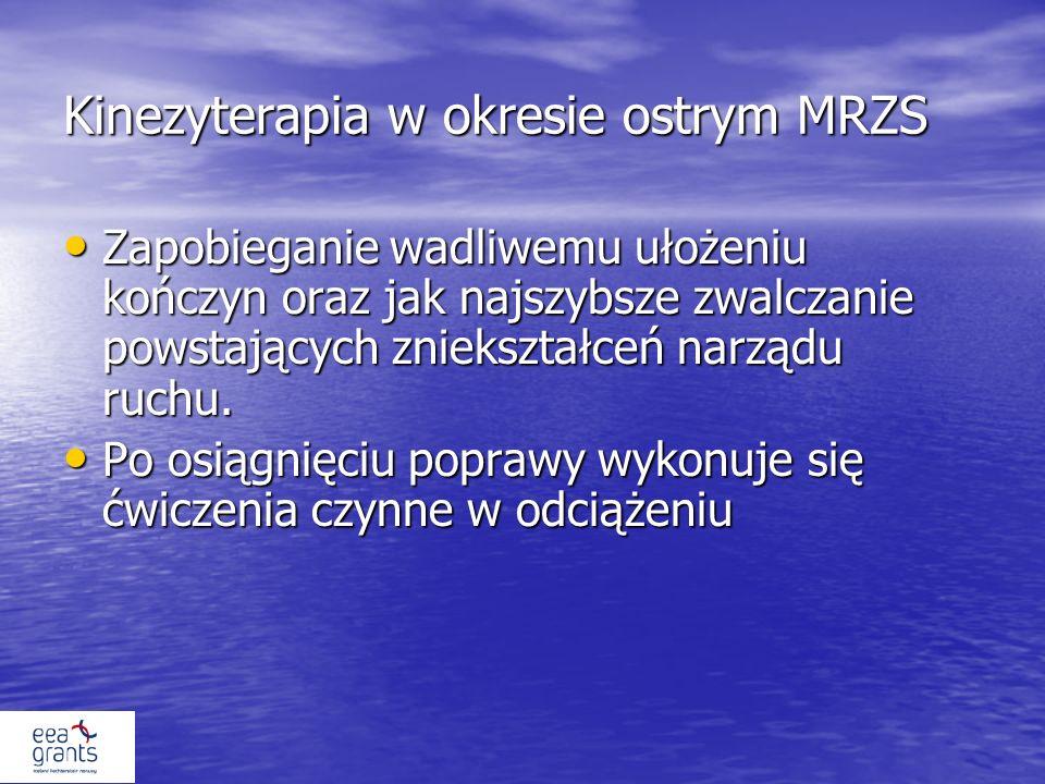 Kinezyterapia w okresie ostrym MRZS