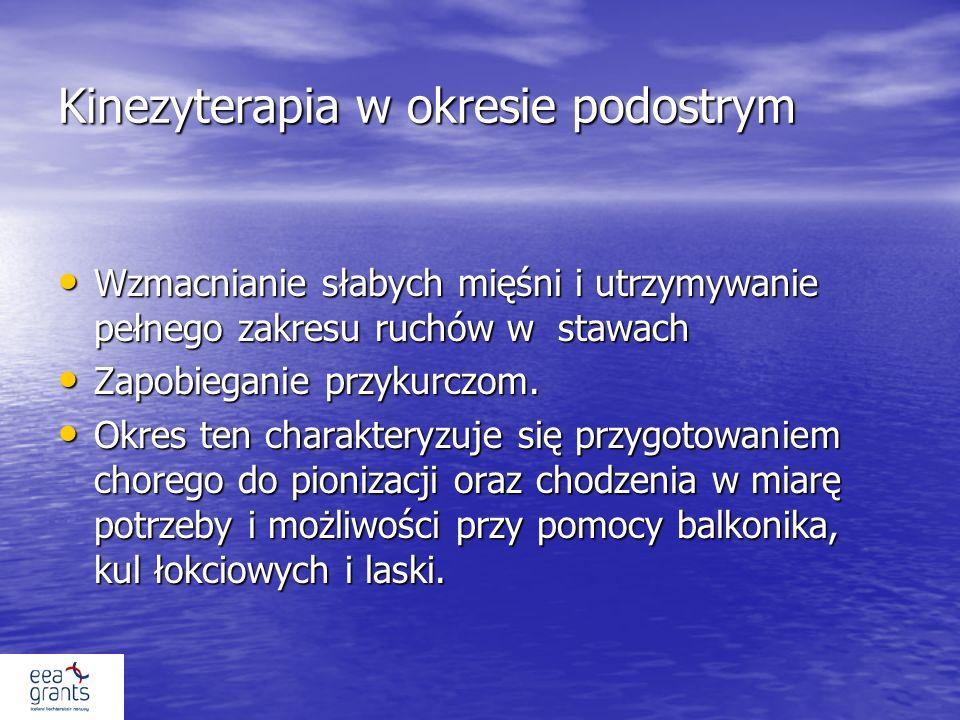 Kinezyterapia w okresie podostrym