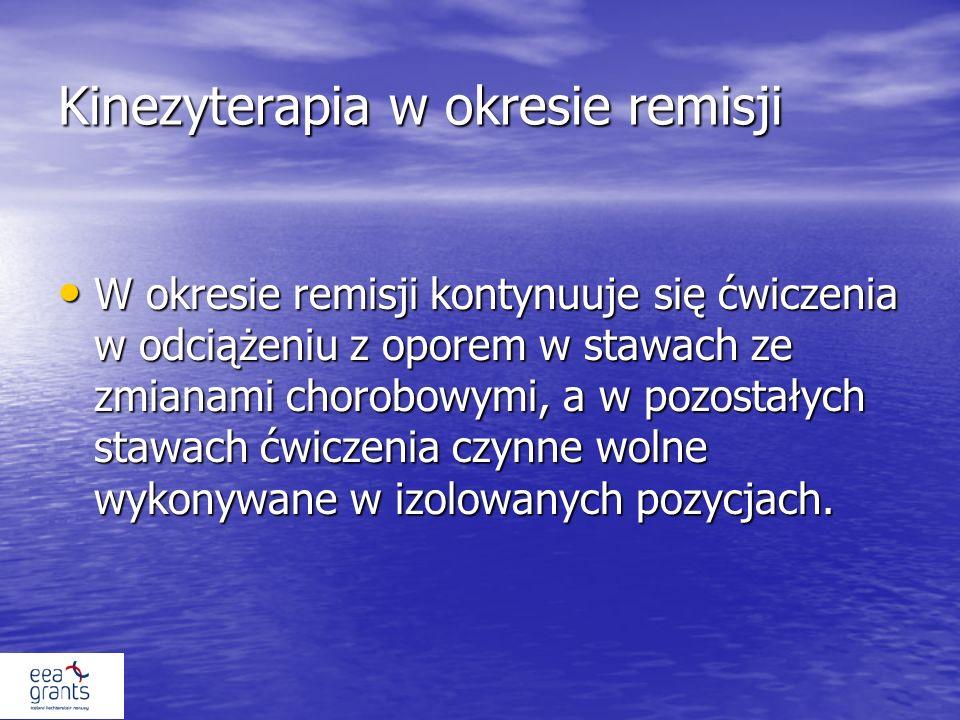 Kinezyterapia w okresie remisji